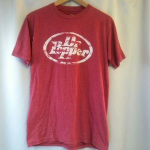 Savvy Distressed Dr. Pepper T-shirt, M